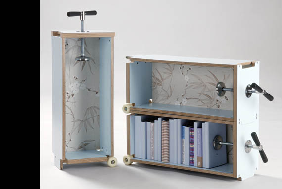 The Repisa N5 By Sebastin Errzuriz Lets You Create As Much Or Little Shelf Space Need With A Flick Of Wrist
