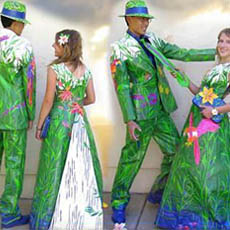 duct tape prom dress and tuxedo