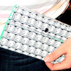 Laptop Keyboard Clutch Wallet