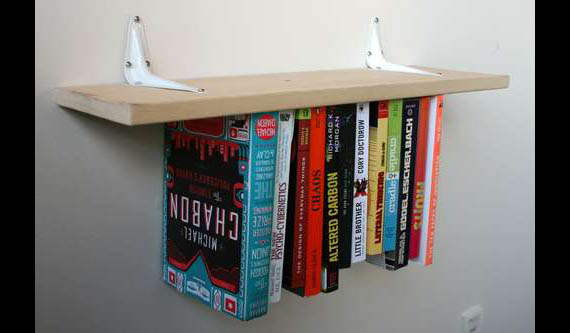 although after a certain point you may realize it would have been more prudent to just by a second regular shelf instead - Weird Bookshelves