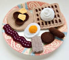 Crochet Breakfast Food Patterns