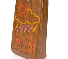 Wood Station Alarm Clock