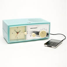 Crosley Table Alarm Clock Speaker