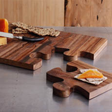 puzzle serving board incredible things. Black Bedroom Furniture Sets. Home Design Ideas
