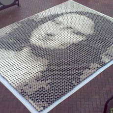 Mona Lisa Painting Made with Cups of Coffee