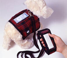 iPod Dock in a Dog Jacket