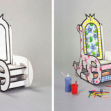 Color in Cardboard Throne