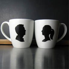 Custom Silhouette Mugs
