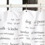 Learn a New Language Shower Curtain