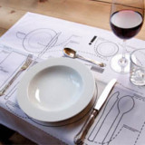 Table Setting Diagram Placemat