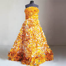 Gown Made From Recycled M&M Wrappers
