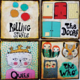 Band Coasters by Retrowhale