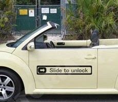 Slide to Unlock iPhone Car Sticker