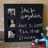 Multi-photo Chalkboard Frame