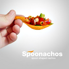 Spoonachos: Spoon Shaped Nachos