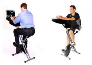 Veg Out While You Work Out with FitDesk X Bike