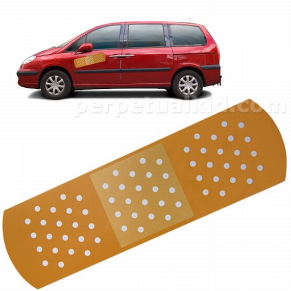 Fix Your Car's Boo Boo's With The Auto Aid Bandage Magnet