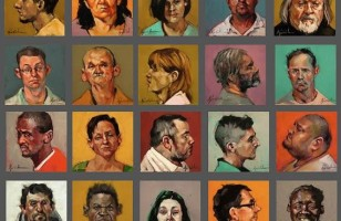 BUST-ED: 100 Paintings of Mugshots in 100 Days