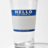 Hello My Name Is? Pint Glass