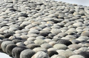 You Won't Stub Your Toe on This Faux Pebble Rug