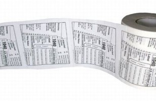 Show Your True Feelings About Tax Season With 1040 Toilet Paper