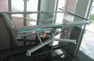 Glass Top Pool Tables Are Clearly Cooler Than Felt