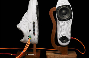 Sneaker Speakers Play Music with Sole