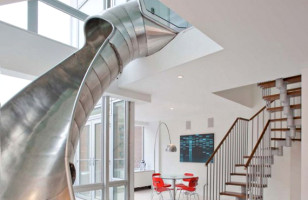 Apartment With Slide Makes Chores Fun