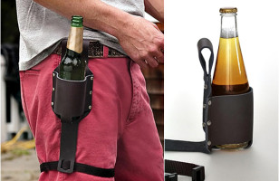 Leather Holster Keeps Your Beer Near