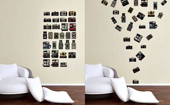 camera wall decals capture your home's style | incredible things