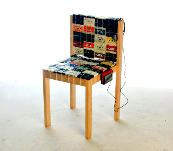 Rock Out With The Cassette Tape Chair