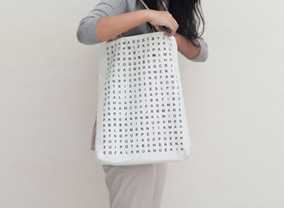 Learn to Love Long Lines with the Crossword Puzzle Tote Bag ...