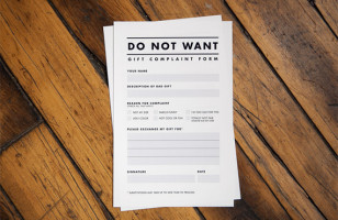 Gift Complaint Form For Worry-free Gift Giving