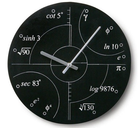 A Wall Clock for all you math lovers out there
