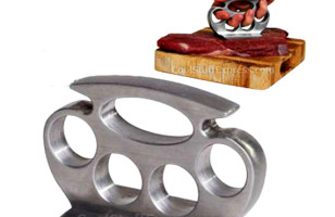 Beat Your Meat With A Brass Knuckle Tenderizer