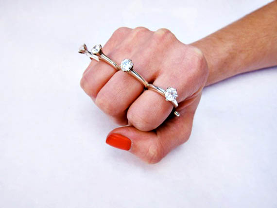 protect your marriage with a wedding ring knuckle duster - A Wedding Ring