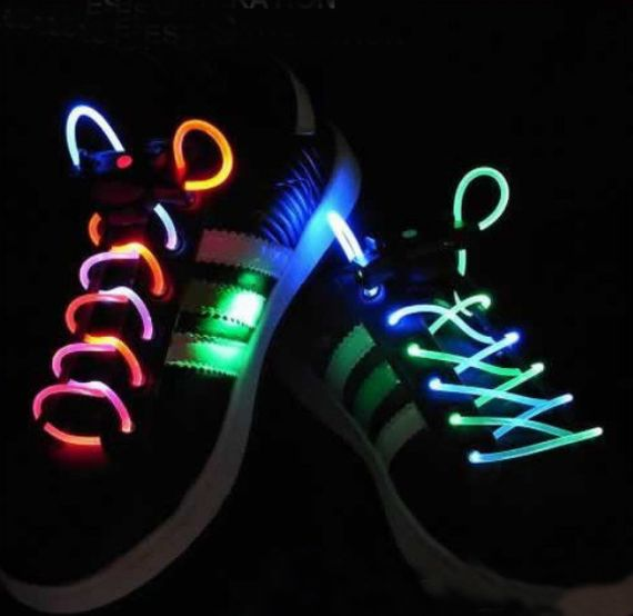 Spice Up Your Evening Run With LED Shoelaces