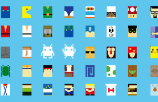 How Many Characters Can You Name from the Minimalist Video Game Characters Poster?