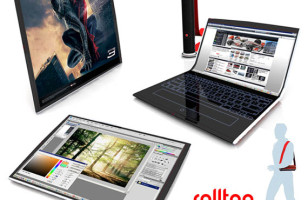 Rolltop: A Laptop, Tablet and Monitor All Rolled into One