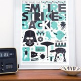 Retro Scandinavian Star Wars Poster