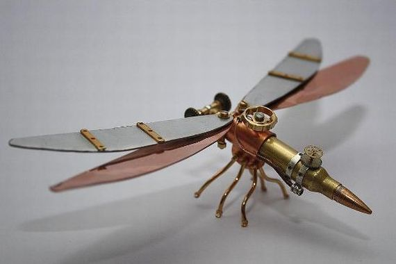 Steampunk Insects Made From Bullets