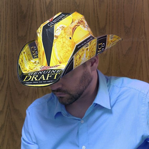 Nothing Is More Fashionable Than A Beer Box Cowboy Hat