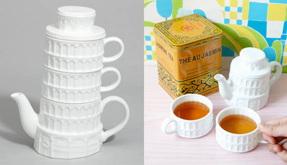Leaning Tower of TEAsa Stacks Up Against Other Tea Sets