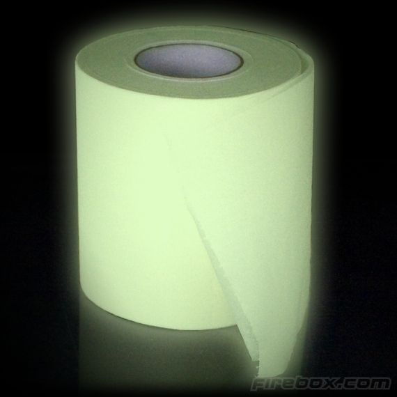 Find Your Way To The Toilet With Glow In The Dark Toilet Paper