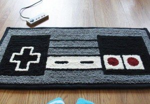 Relive The Good Old Days Of Gaming With The NES Controller Rug