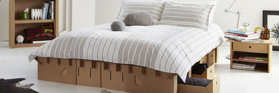 Cardboard Furniture For People With Actual Homes