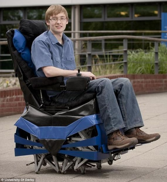 The Walking Chair Helps The Disabled Get Around More Effectively