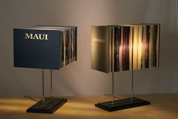 Old Books Find New Purpose In The Book Lamp