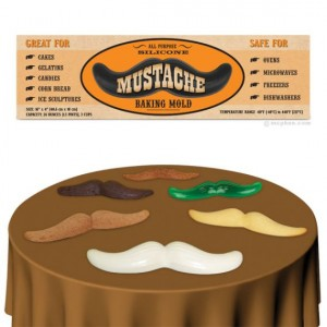 The Mustache Baking Mold Helps You Bake Manly Cakes