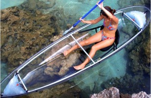 Take In The View With The Transparent Kayak